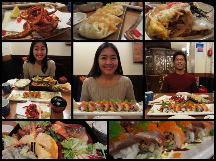 "Japanese lunch at Eat Tokyo including The Sushi Awards 2013 Champion Roll the ""Hyper Roll"""